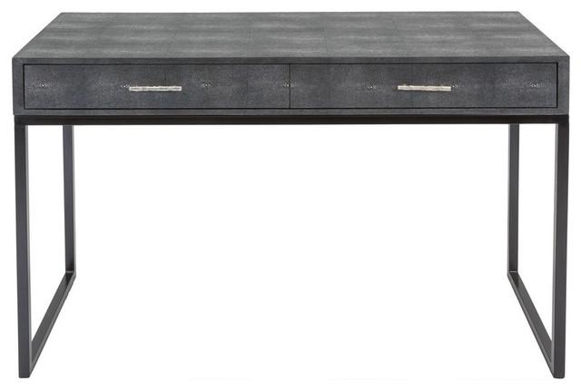 Safavieh Scarlett Faux Shagreen Desk, Black.