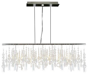 Modern Contemporary Linear Chandelier Lamp With Crystal Modern