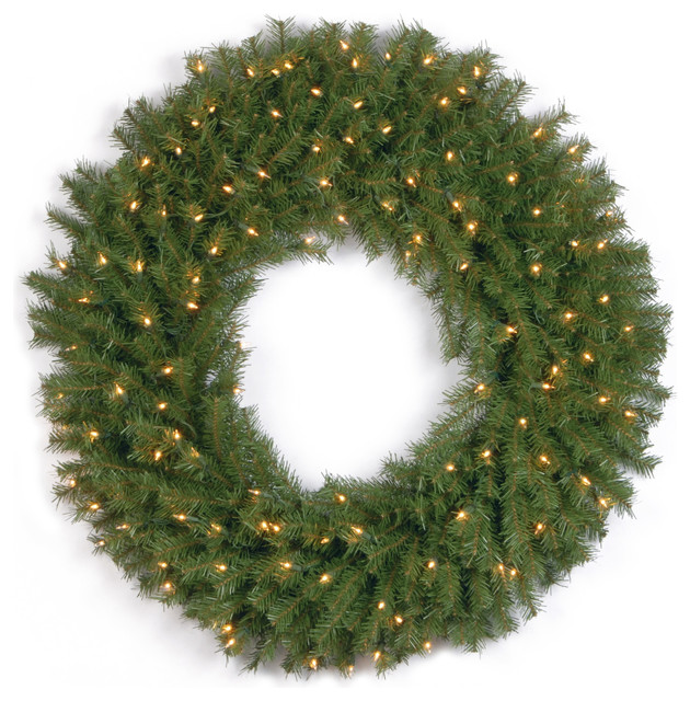 """36"""" Norwood Fir Wreath With Clear Lights."""