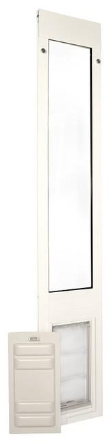 "Endura Flap Pet Door, Thermo Panel, Medium, 8""x15"", 77.25-80.25"" Tall, White"