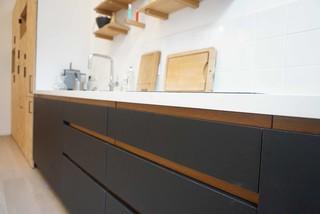 cuisine en panneaux fenix et osb moderne paris par ms eb nisterie. Black Bedroom Furniture Sets. Home Design Ideas