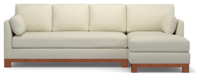 Avalon 2 Piece Sectional Sleeper Sofa, Cream Sleeper Sofa With Chaise