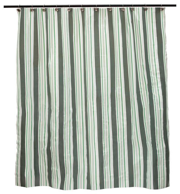 Mildew Resistant Decorative PEVA Shower Curtain Liner Simple Stripe