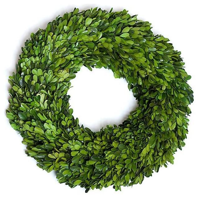 """Boxwood Round Wreath Single Side 16"""""""