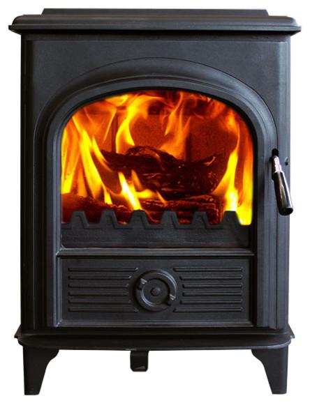 HiFlame Shetland PLUS 8KW Wood Burning Stove, Cast Iron Door