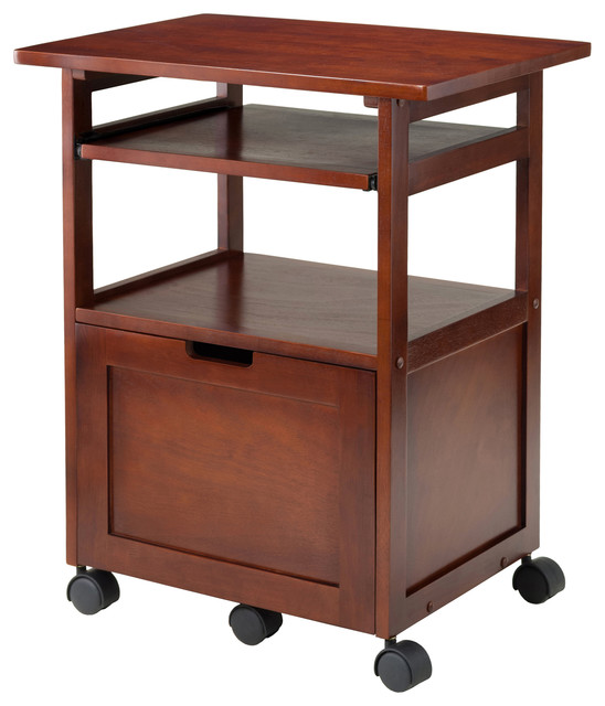 Amazing Piper Work Cart, Printer Stand With Key Board Transitional Office Carts And