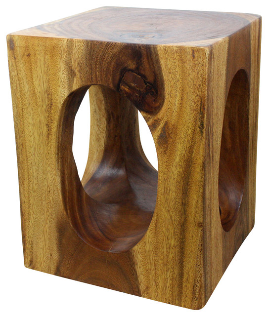 Haussmann Windows Cube 16 X20 Wood End Table Eco Livos Walnut Oil