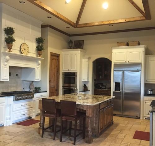 Knotty Alder Cabinets: Went From Brown Knotty Alder Kitchen Cabinets To White