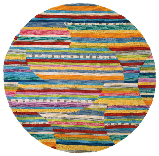 Colorful Jubilee Round Rug Modern