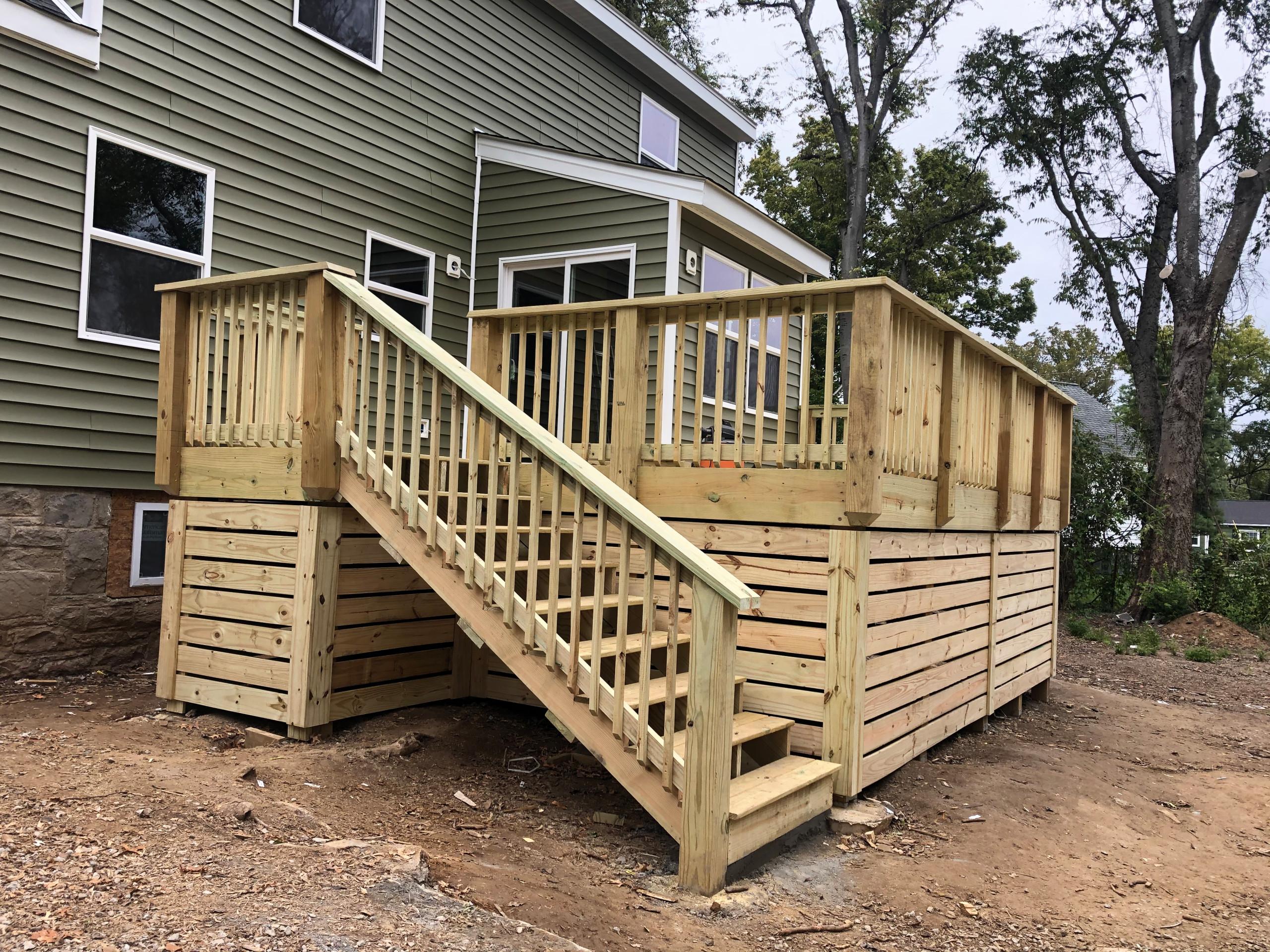 Skirted above-grade decks