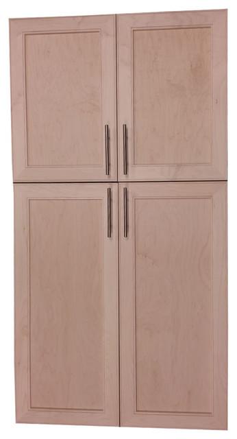 "Village Bp Recessed 4-Door Frameless 18/30 Pantry Cabinet, 3.5""x51""."