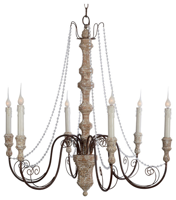 Monceau crystal swag french country large 6 light chandelier monceau crystal swag french country large 6 light chandelier traditional chandeliers aloadofball Image collections