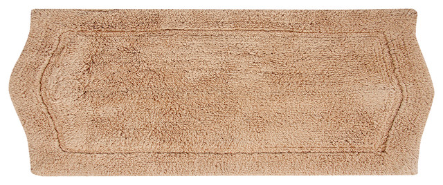 Waterford Bath Rug, Linen, 22x60 by Home Weavers Inc.