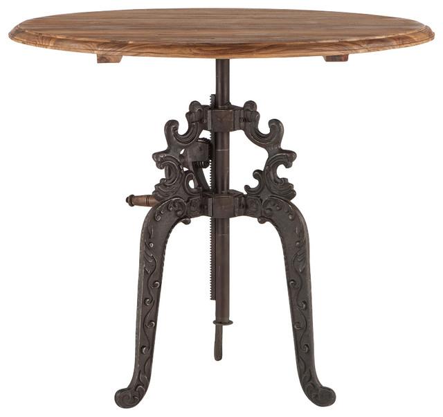 World Interiors Regina Reclaimed Natural Teak Adjustable Round Dining Table 40 Dining Tables