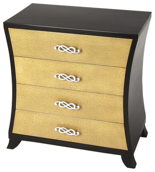 Saverio Ostrich Leather Drawer Chest - Multi-Color