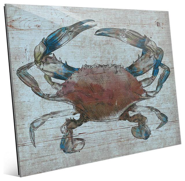 Horizon worldwide auburn crab nautical beach house wall for Beach house prints