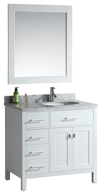 Design element london 36 single sink vanity set drawers on left view in your room houzz for Single sink consoles bathroom