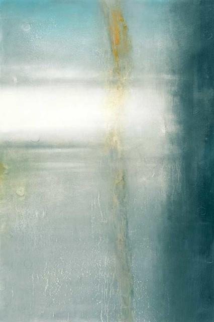 """""""vibration - Turquoise"""" Fine Art Canvas Print, 48""""x72""""."""