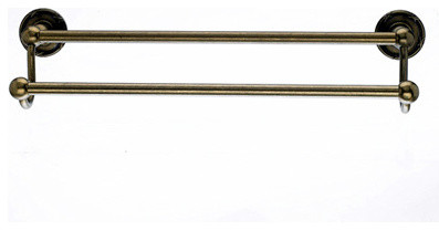 Top knobs edwardian bath 18 double towel rod german for German made bathroom accessories