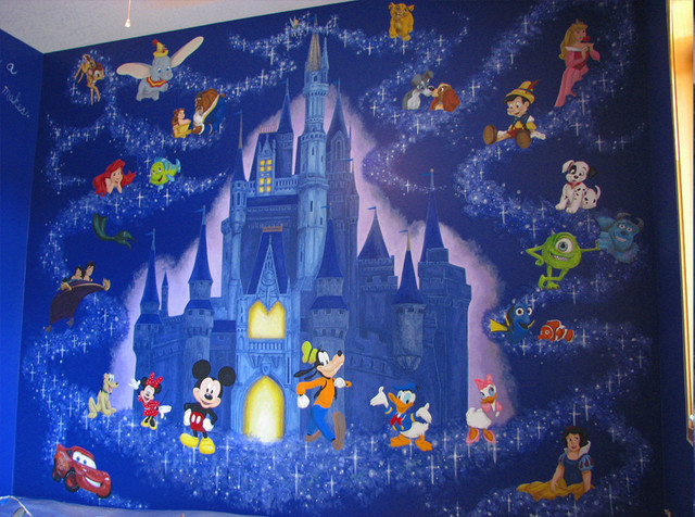 disney mural contemporary minneapolis by walls of new disney princess castle large photo wall mural room