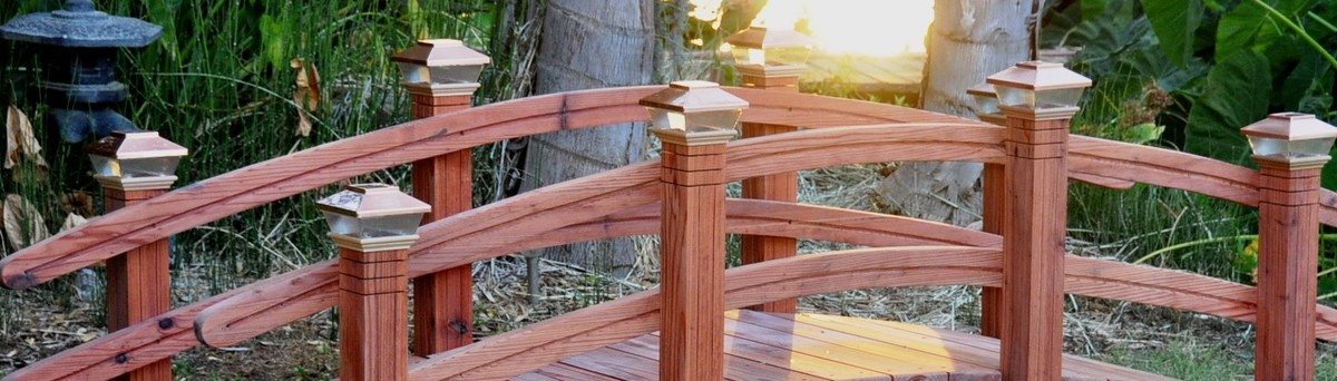 decorative bridges quality wood garden crafted amish