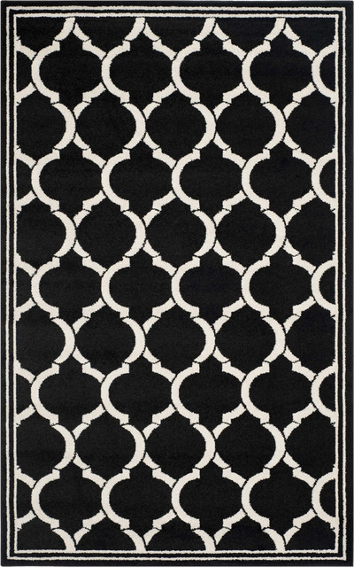 Amherst Amt415 Area Rug, Anthracite/ivory, 8&x27;x10&x27;.