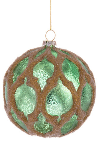 Silk Plants Direct Ball Ornament, Pack of 6 - Traditional ...