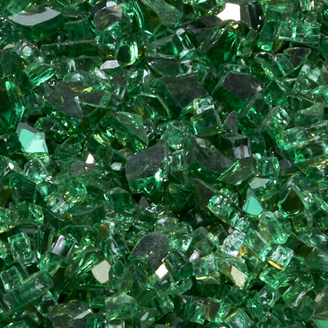 """Duluth Forge 1/4"""" Classic Emerald Fire Glass, 10 lb. Bag Fire Pit Glass"""