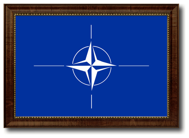 Nato Country Flag Canvas Print 15quotx21quot Traditional  : traditional novelty signs from www.houzz.com size 640 x 468 jpeg 61kB