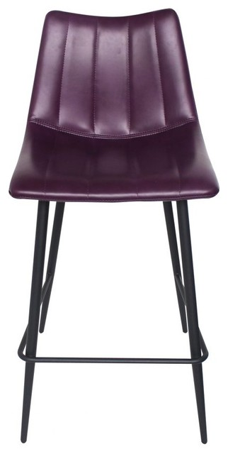 Remarkable 37 T Set Of 2 Purple Counter Stool Solid Metal Frame High Density Foam Seat Andrewgaddart Wooden Chair Designs For Living Room Andrewgaddartcom