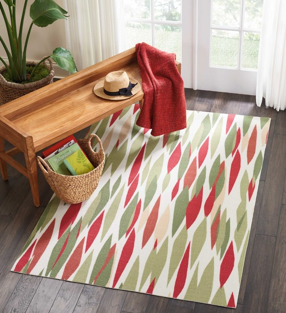 Waverly Sun & Shade Bits & Pieces Indoor/outdoor Area Rug, Blossom, 4&x27;3x6&x27;3.