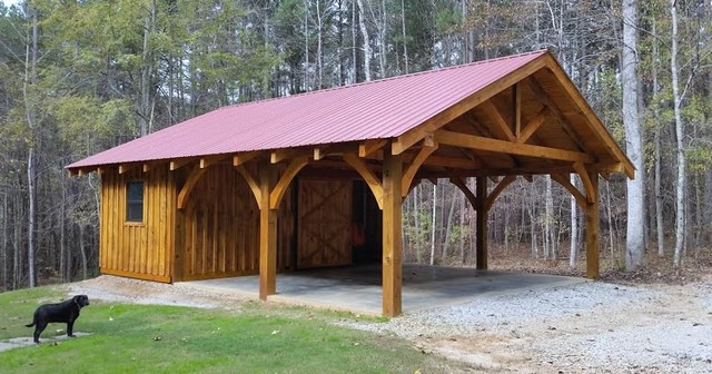 Timber Frame Carport Workshop