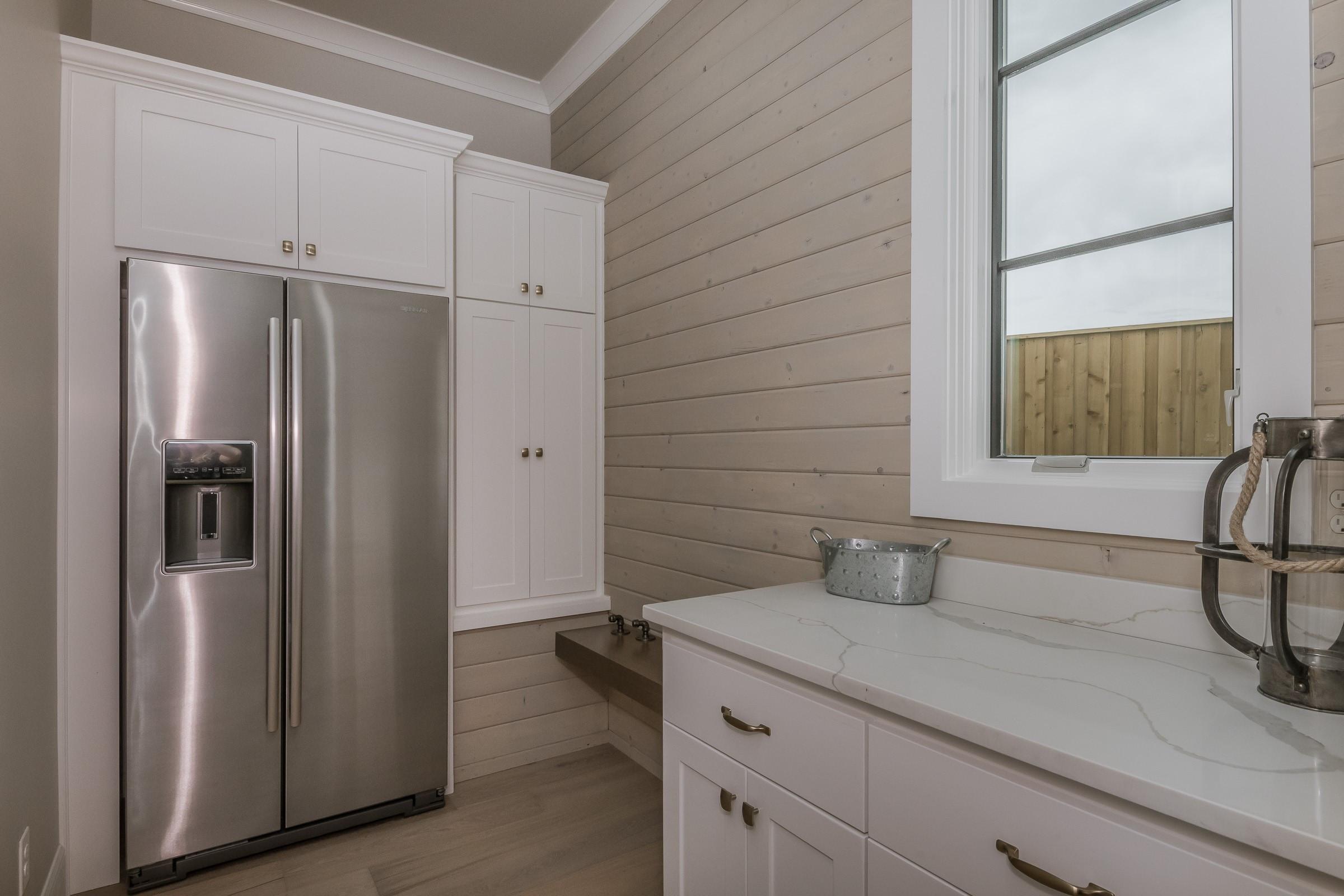 Mudroom with 2nd refrigerator