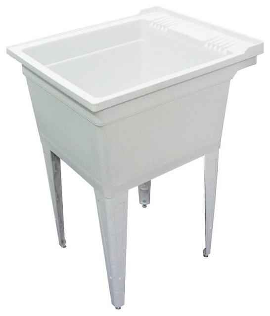 Samson - Samson Gray Floor-Mounted Laundry Tub, 22.38\