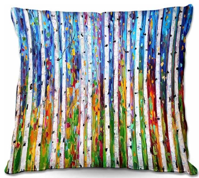 Dianoche Throw Pillows Karen Tarlton - Autumn Birch Tree.