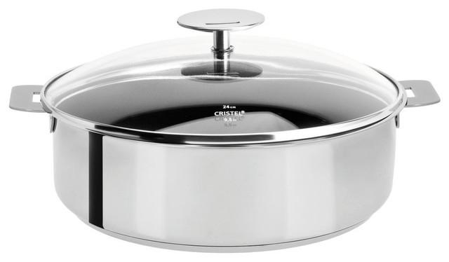 Cristel Excalibur Non-Stick Saute Pan And Glass Lid, 3.5 Qt.