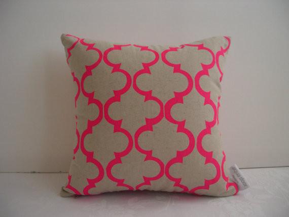 Pink Geometric Design Cushion Cover by Aqua Door Designs