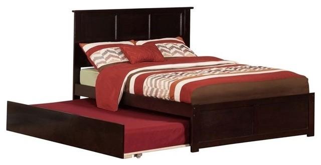 Atlantic Furniture Madison Urban Full Trundle Platform Bed, Espresso.