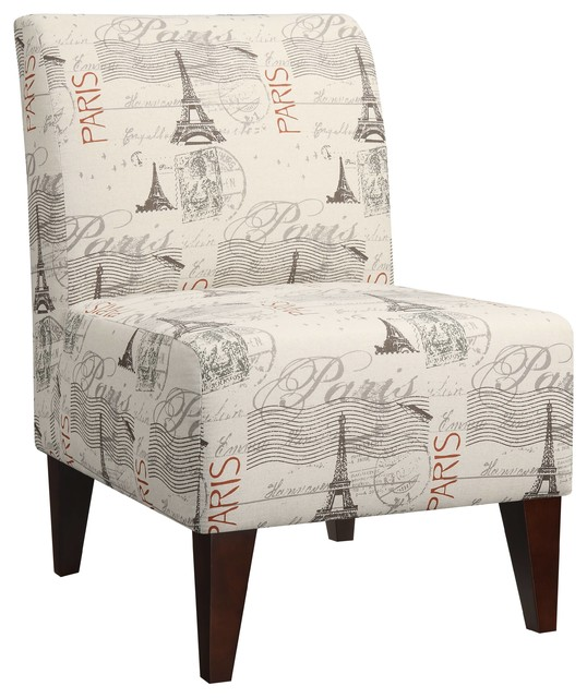 North accent slipper chair blue contemporary