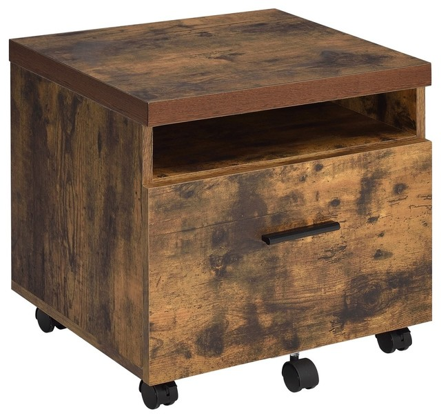Acme Bob File Cabinet, Weathered Oak - Industrial - Filing Cabinets ...