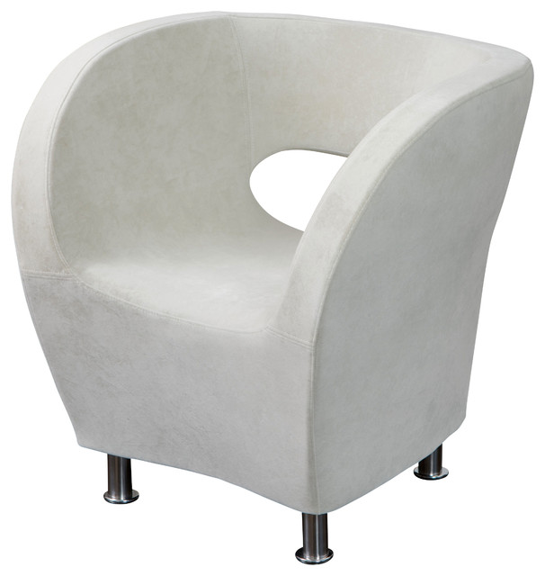 Moda Accent Chair, Ivory White