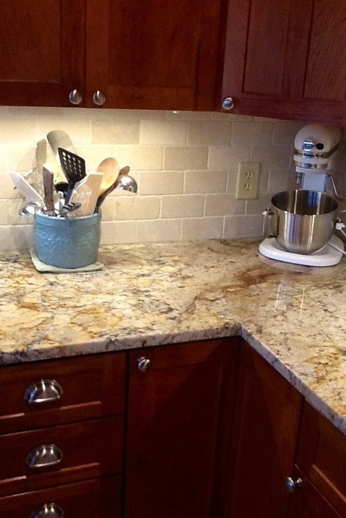 Backsplash Help To Go W Typhoon Bordeaux Granite