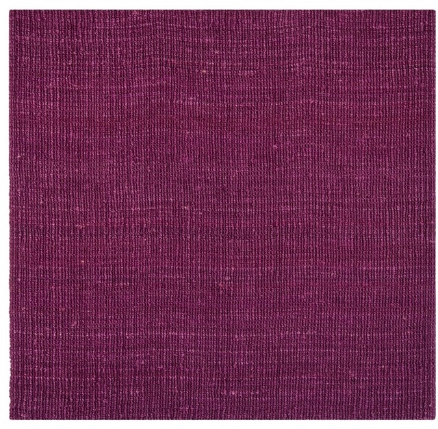 Contemporary natural fiber area rug contemporary area for Purple area rugs contemporary