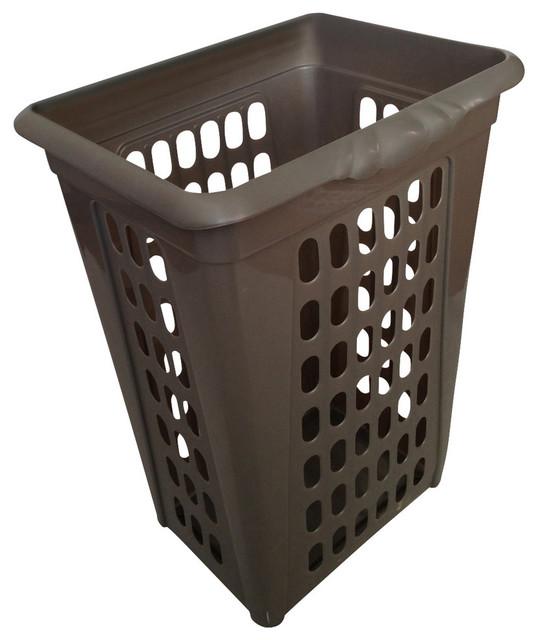 Plastic Perforated Rectangular Sorting Laundry Hamper No