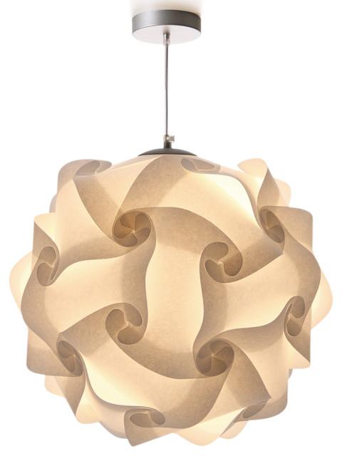 lujn + sicilia COL pendant lamp in white parchment paper finish  contemporary-pendant-lighting