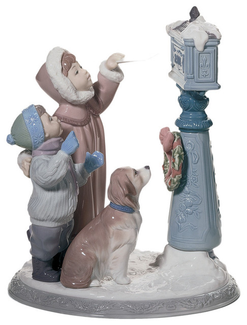 Lladro 39 holiday wishes 39 porcelain figure contemporary holiday accents and figurines by - Consider including lladro porcelain figurines home decoration ...