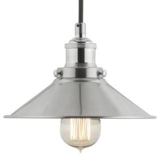 Extra long pendant lights houzz linea di liara andante industrial factory pendant brushed nickel pendant lighting aloadofball Choice Image