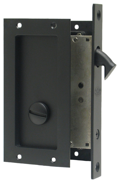FPL Anacapa Pocket Lock Privacy, Oil Rubbed Bronze Modern Pocket Door  Hardware