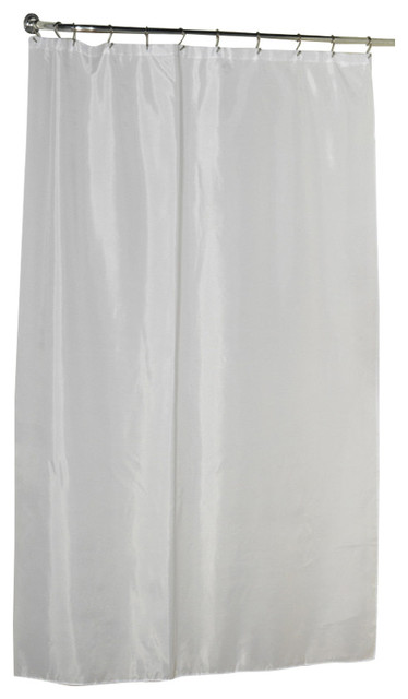 Carnation Shower Stall Sized Polyester Shower Curtain Liner White Traditional Shower
