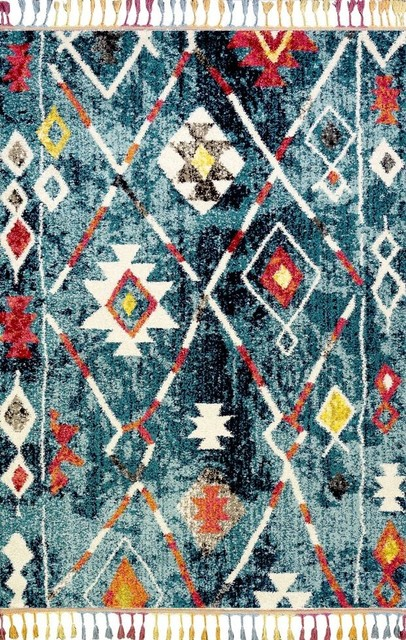 Royal Marrakech Dark Turquoise Rectangle Traditional Rug, 160x230 cm